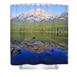 Pyramid Lake Reflection Shower Curtain by Teresa Zieba