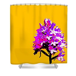 Orange Pyramid Orchid  Shower Curtain by Richard Patmore