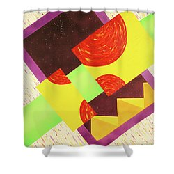 Pyramids And Pepperoni Shower Curtain by Thomas Blood