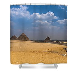 Pyramids Of Giza  Shower Curtain