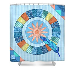 Q Is For Quilt And Quill Shower Curtain