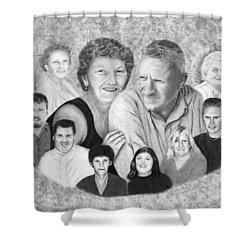 Quade Family Portrait  Shower Curtain by Peter Piatt
