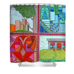 Quadrants Shower Curtain