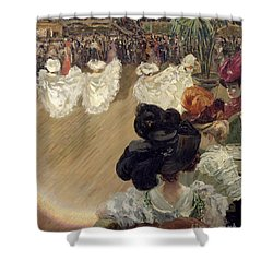 Quadrille At The Bal Tabarin Shower Curtain by Abel-Truchet