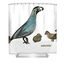 Quail Family Shower Curtain