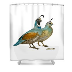 Quail Pair Shower Curtain