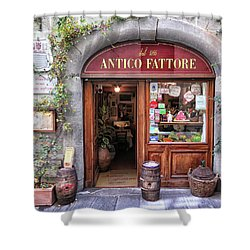Quaint Restaurant In Florence Shower Curtain