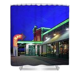 Shower Curtain featuring the photograph Quaker Steak And Lube by Christopher McKenzie