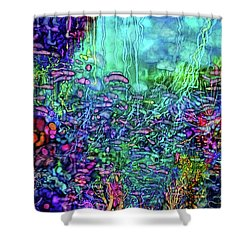 Shower Curtain featuring the digital art Qualia's Reef by Russell Kightley