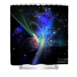 Quantum Filament Shower Curtain by Corey Ford