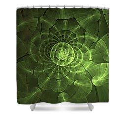 Quantum Plasma Signature Shower Curtain