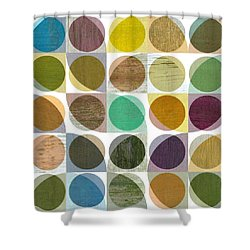 Quarter Circles Layer Project One Shower Curtain by Michelle Calkins
