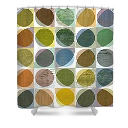 Quarter Circles Layer Project Three Shower Curtain by Michelle Calkins