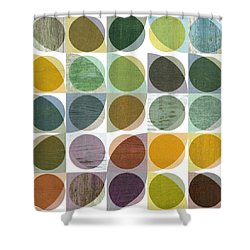Quarter Circles Layer Project Two Shower Curtain by Michelle Calkins