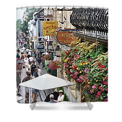 Shower Curtain featuring the photograph Quartier Petit Champlain by John Schneider