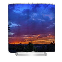 Quartz Canyon Sunset Shower Curtain
