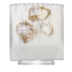Shower Curtain featuring the photograph Quartz Crystals by Jorgo Photography - Wall Art Gallery