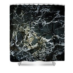 Quartz Veins Abstract 1 Shower Curtain by Richard Brookes