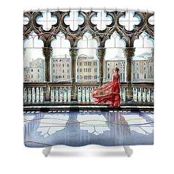 Quatrefoil Breeze Shower Curtain