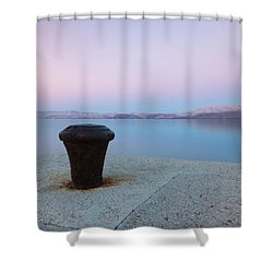 Shower Curtain featuring the photograph Quay In Dawn by Davor Zerjav