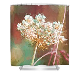 Shower Curtain featuring the digital art Queen Anne Impasto by Bonnie Bruno