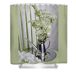 Queen Anne's Lace Shower Curtain by Betty Denise