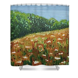Queen Anne's Lace Field Shower Curtain by Bethany Lee