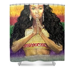 Queen Ano Shower Curtain by G Cuffia