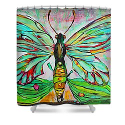 Queen Birdwing Shower Curtain