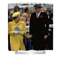 Queen Elizabeth Inspects The Horses Shower Curtain