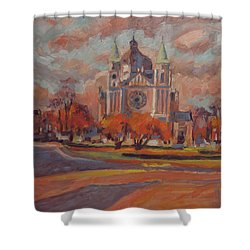 Queen Emma Square In Autumn Colours Shower Curtain by Nop Briex