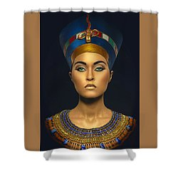Shower Curtain featuring the digital art Queen Esther by Karen Showell
