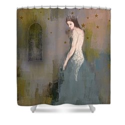 Shower Curtain featuring the digital art Queen by Lisa Noneman
