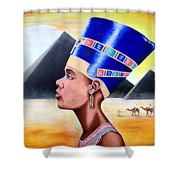 Queen Nefertiti Shower Curtain