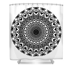 Queen Of Hearts King Of Diamonds Mandala Shower Curtain