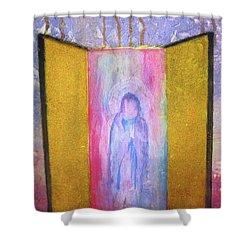 Queen Of Heaven Shower Curtain by Mary Ellen Frazee