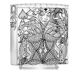 Queen Of Spades  Shower Curtain by Jani Freimann