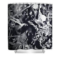 Queen Of Throne Shower Curtain by Gina O'Brien
