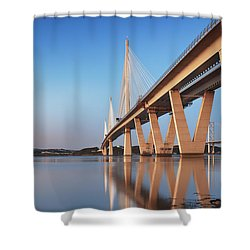 Queensferry Crossing Portrait Shower Curtain