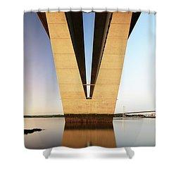 Under The Queensferry Crossing Bridge Shower Curtain
