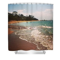 #queensland #beach #beautiful #iloveit Shower Curtain