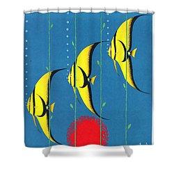 Queensland Great Barrier Reef - Restored Vintage Poster Shower Curtain