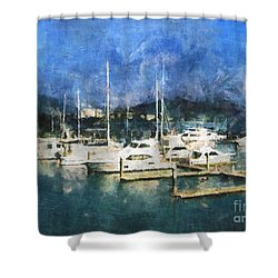 Queensland Marina Shower Curtain by Claire Bull