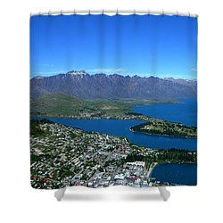 Queenstown New Zealand Shower Curtain