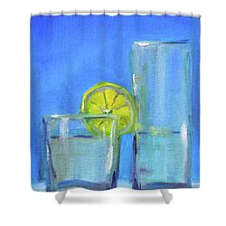 Shower Curtain featuring the painting Quench by Nancy Merkle