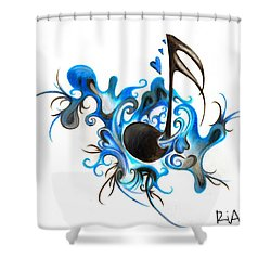 Quenched By Music Shower Curtain