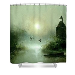 Quiet Abode Shower Curtain