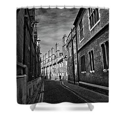 Quiet Alley Cambridge Uk Shower Curtain