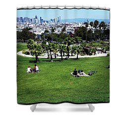 Shower Curtain featuring the photograph Quiet At #doloresgaybeach by Mr Photojimsf