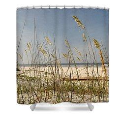 Quiet Beach Shower Curtain by John Black